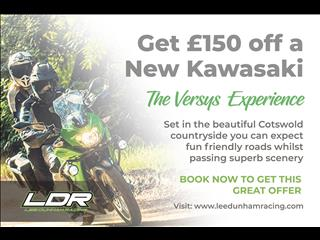 Get £150 off your new Kawasaki with The Versys Experience