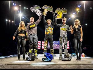 Team Green Kawasaki dominate opening rounds of 2019 Arenacross in Belfast